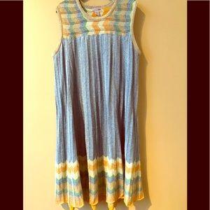 H&M Metallic Crinkle Swing Dress.